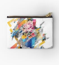 Distorted still life of the flower and the bird Zipper Pouch