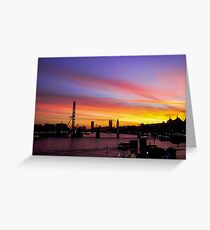 London at Sunset 2 Greeting Card
