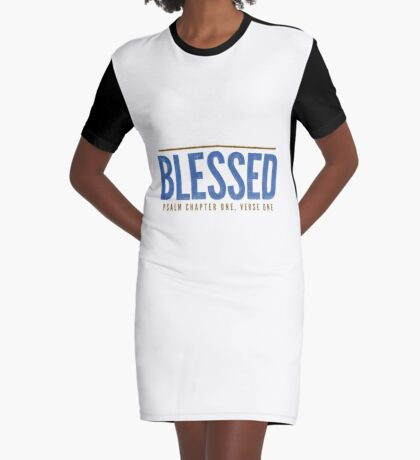 Blessed - Psalm 1:1-2 Graphic T-Shirt Dress