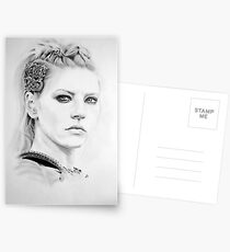 Lagertha Bleistiftporträt. Postkarten