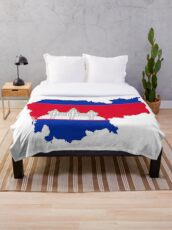 Flag of Cambodia Throw Blanket