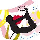 « yoga pose Dhanurasana Bow pose » par bintadesigns
