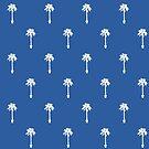 «Siluetas de palmeras en azul» de by-jwp
