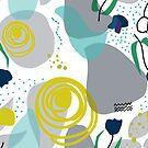 « motif tulipes bleues » par bintadesigns