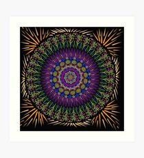 Golden harvest Mandala Art Print