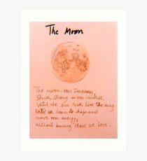 The Moon Lámina artística