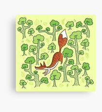 Fox in the summer forest Canvas Print