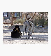 Bedhouin woman, Egypt Photographic Print