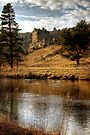 Late Afternoon, Neidpath Castle by Christine Smith