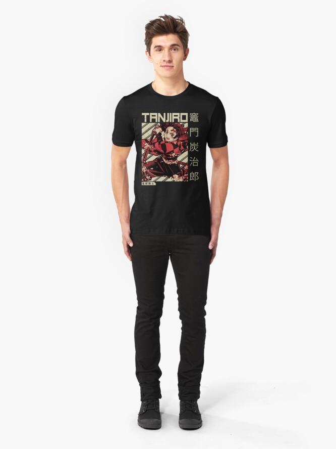 Alternate view of Demon Slayer Kimetsu No Yaiba | Anime Shirt Slim Fit T-Shirt