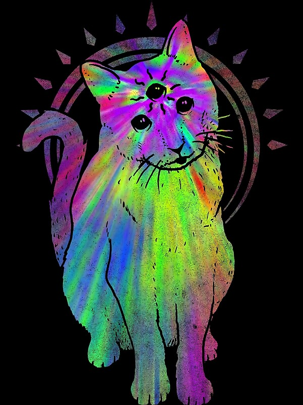Quot Psychic Psychedelic Cat Quot By Jonah Block Redbubble