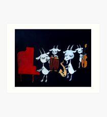 4 Beats 4 Goats Art Print