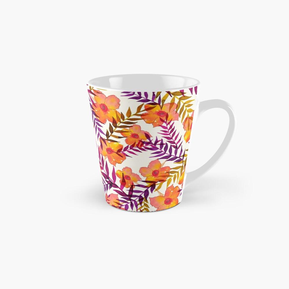 Tropisches Muster Blumen und Blätter Tassen