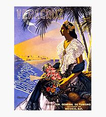 Veracruz Mexico Vintage Travel Poster Restored Photographic Print