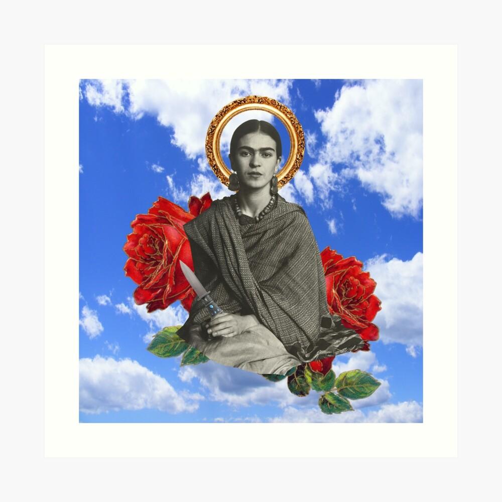 Frida Vintage Kunstdruck