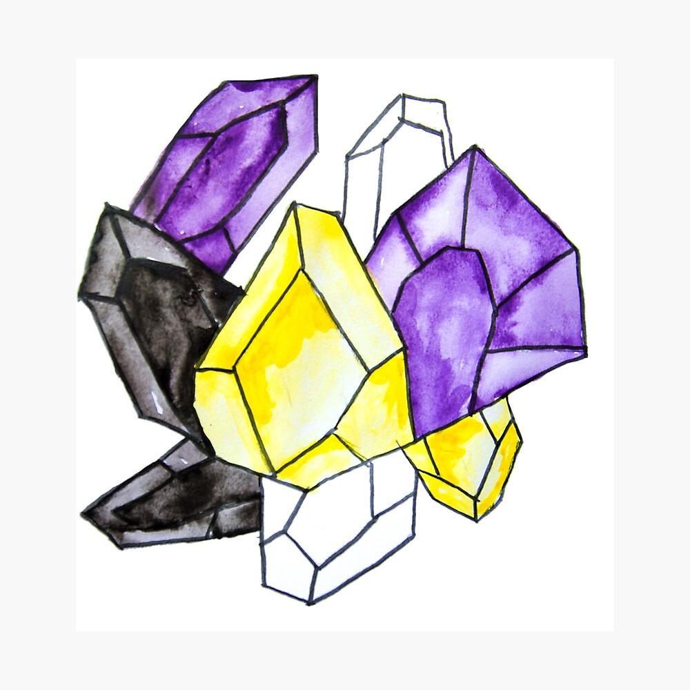 Nicht-binärer Stolz-Kristall Fotodruck