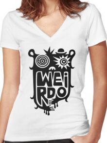 Big weirdo - on light colors Women's Fitted V-Neck T-Shirt