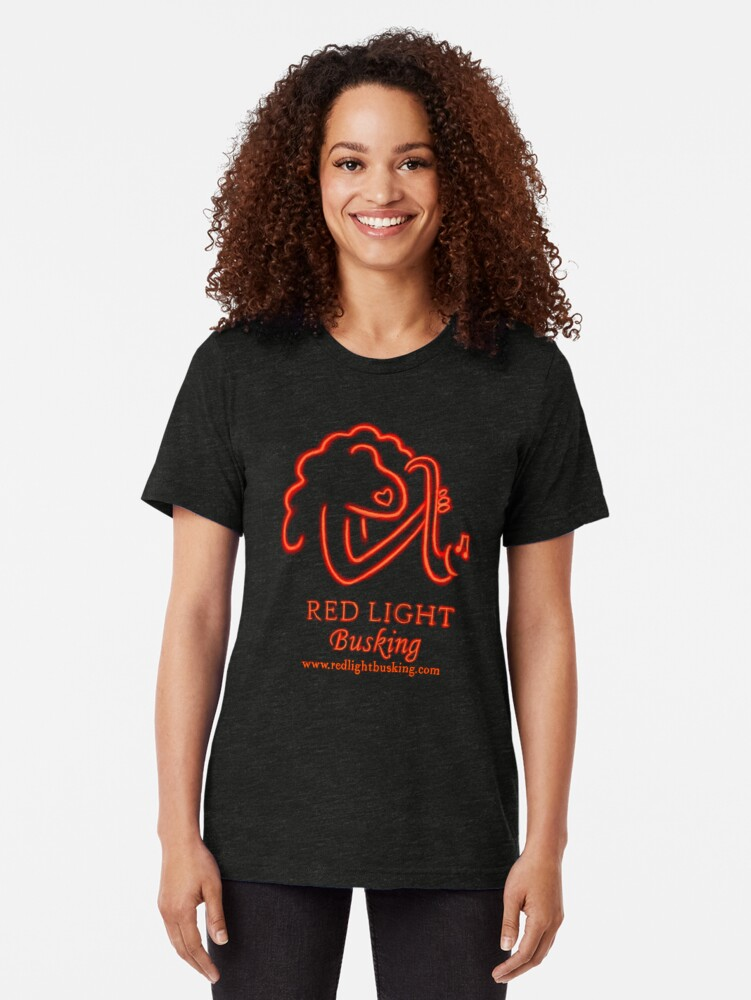 Alternate view of Red Light Busking a new cultural experience to hit London. Tri-blend T-Shirt