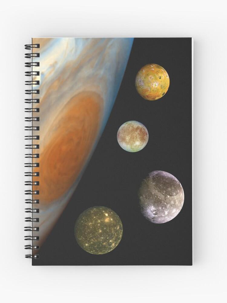 Jupiter, Io, Europa, Ganymede, Callisto Space | Spiral Notebook