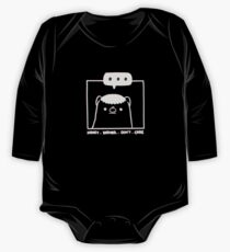 Honey Badger Don't Care - Monochrome 3D Long Sleeve Baby One-Piece