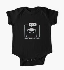 Honey Badger Don't Care - Monochrome 3D Short Sleeve Baby One-Piece