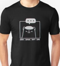 Honey Badger Don't Care - Monochrome 3D Slim Fit T-Shirt