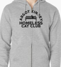 Abbot Kinney Obdachloser Katzenclub Kapuzenjacke