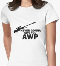 Never Gonna Give you AWP Womens Fitted T-Shirt