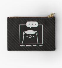 Honey Badger Don't Care - Monochrome 3D Zipper Pouch