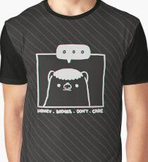 Honey Badger Don't Care - Monochrome 3D Graphic T-Shirt