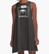 Honey Badger Don't Care - Monochrome 3D A-Line Dress