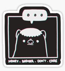 Honey Badger Don't Care - Monochrome 3D Sticker