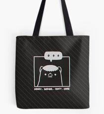 Honey Badger Don't Care - Monochrome 3D Tote Bag