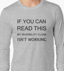 INVISIBILITY CLOAK Long Sleeve T-Shirt