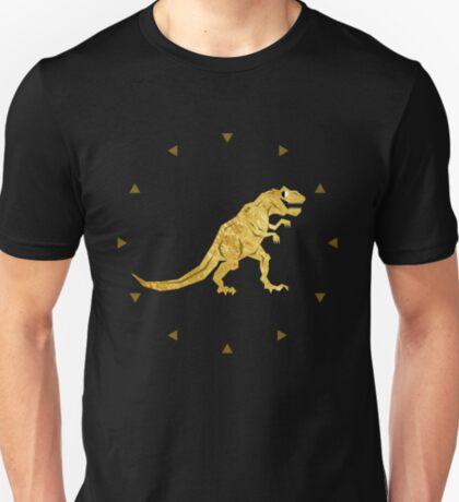 Golden T. Rex Pattern T-Shirt