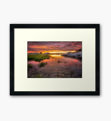 Colorful Muck Framed Print
