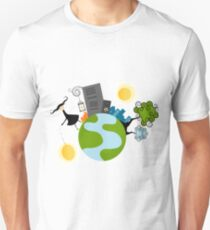 Urban Girl Vector Illustration Unisex T-Shirt