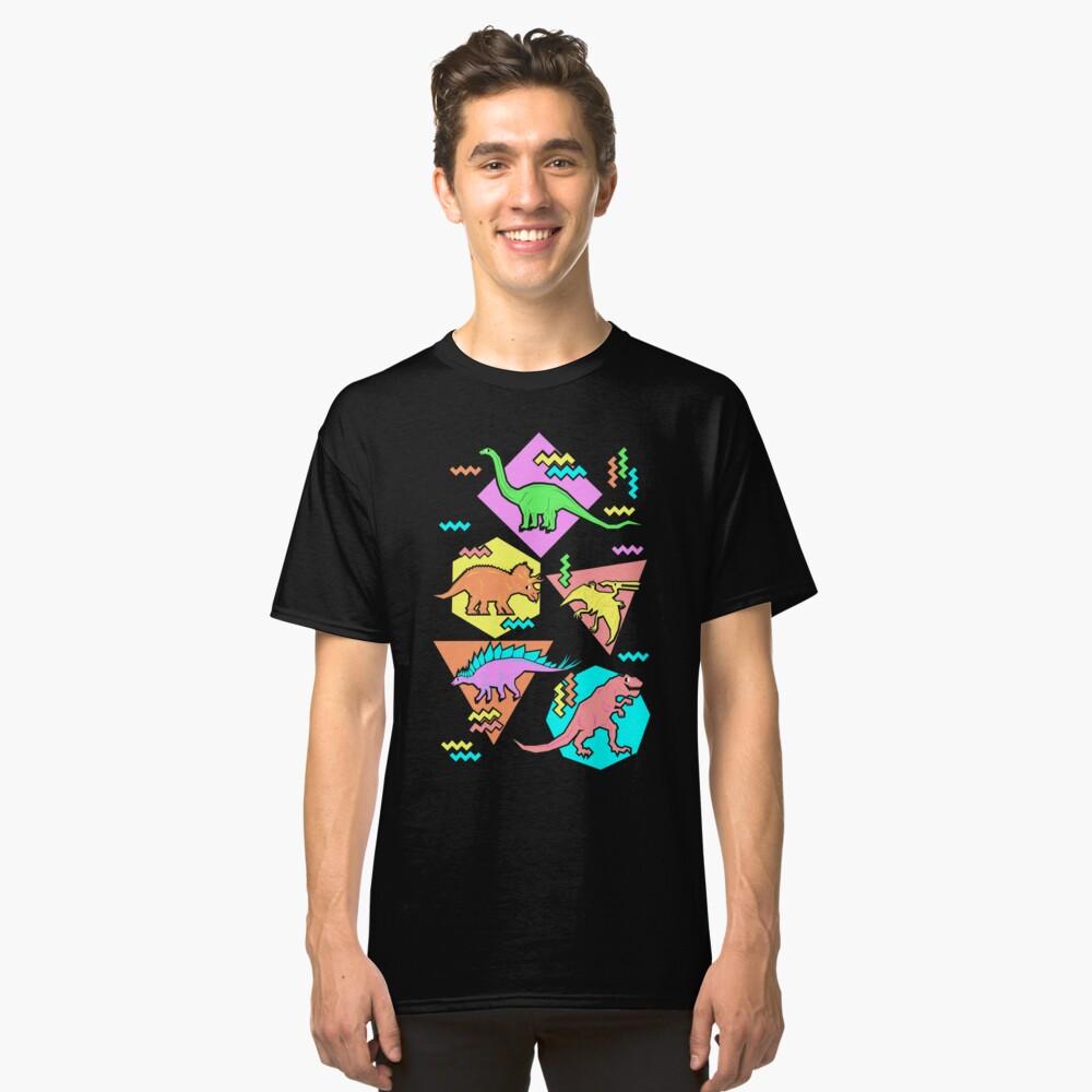 Neunziger Jahre Dinosaurier Muster Classic T-Shirt