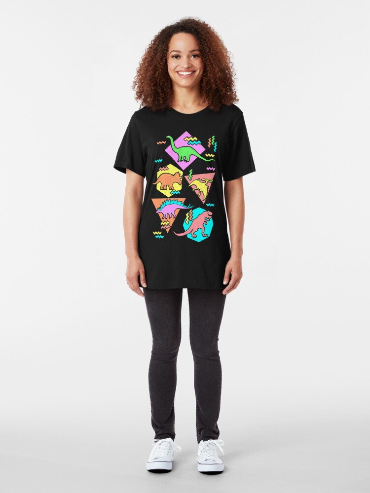 Alternate view of Nineties Dinosaurs Pattern Slim Fit T-Shirt