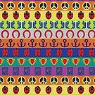 Jojo's Bizarre Adventure - Part Symbols Colorful Pattern by nintendino