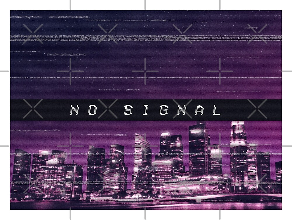 No Signal - vaporwave-inspired art by Patrick King