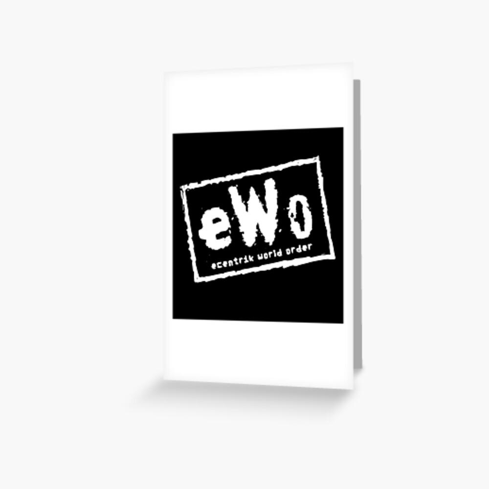 Ecentrik World Order Greeting Card