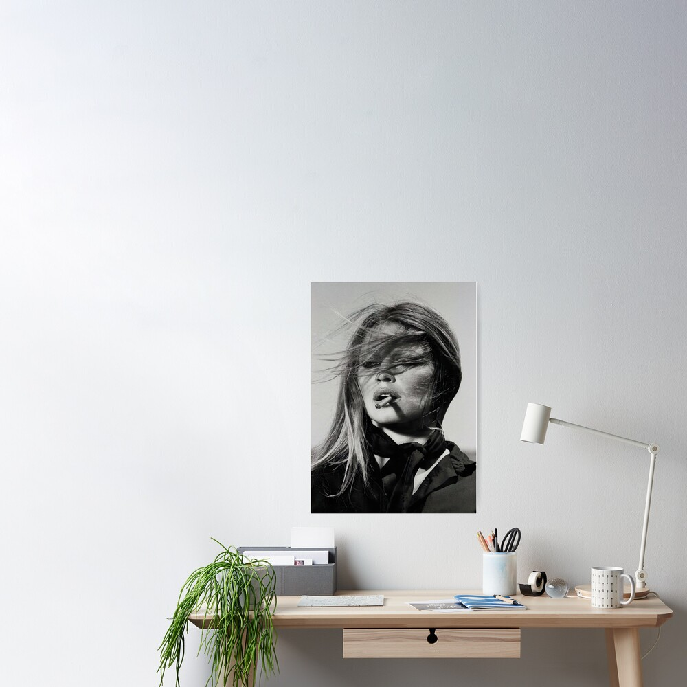 Brigitte Bardot Rauchen Poster