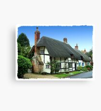 Quaint Thatched Cottage Canvas Print