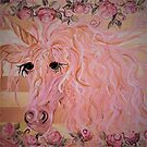 Pink and Gold Unicorn by EloiseArt