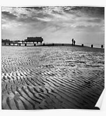 Cleethorpes Beach and Pier, Lincolnshire Poster