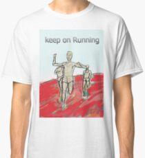athletes runners marathon man Classic T-Shirt