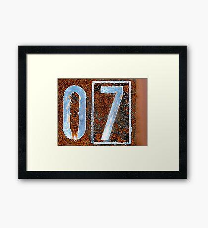07 Framed Print