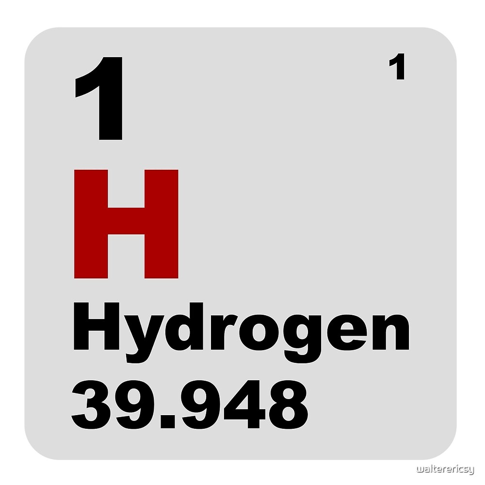 Hydrogen periodic table of elements by walterericsy redbubble hydrogen periodic table of elements by walterericsy gamestrikefo Choice Image