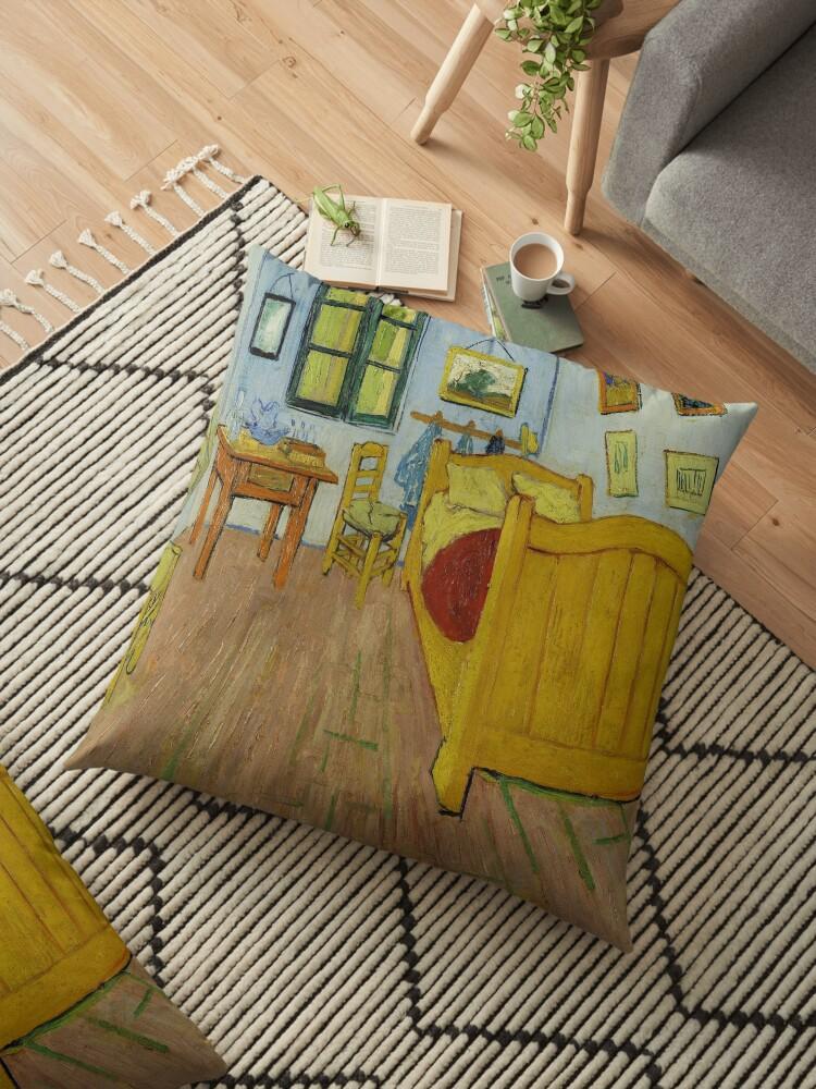 Bedroom In Arles   Van Gogh Bedroom In Arles Floor Pillow By Newnomads